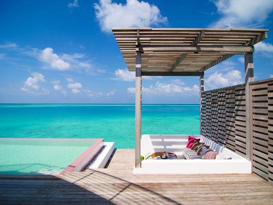 LUX* North Male Atoll, Water Villa decking area