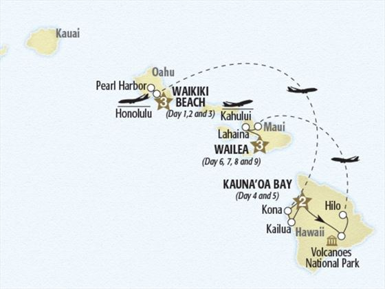 Luxurious Hawaiian Escape Map