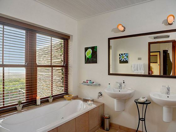 Luxury Suite bathroom at Grootbos Private Nature Reserve