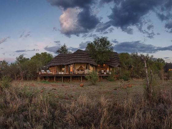 Exterior view of the lodges at Madikwe Game Reserve