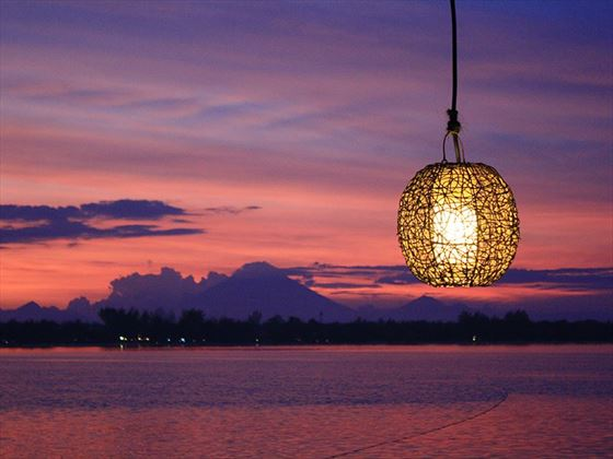 Sunset at MAHAMAYA Boutique Resort, Gili Meno