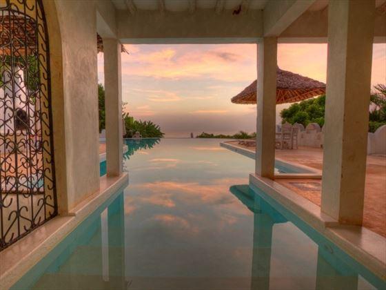 Main house infinity pool - Msambweni Beach House