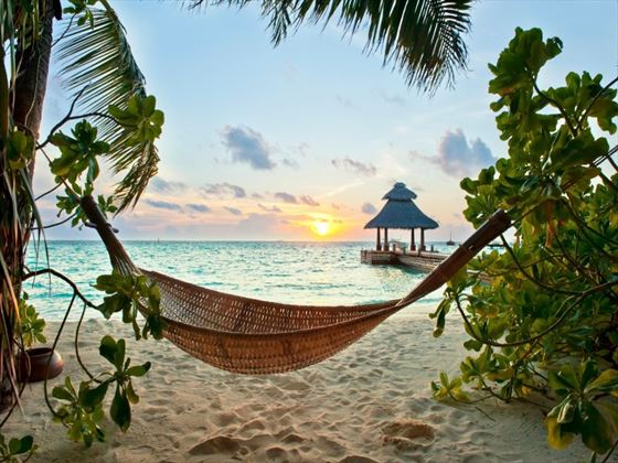Ease your stresses on a tranquil Maldivian beach
