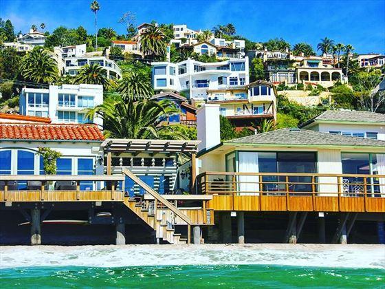 Malibu beach homes, California