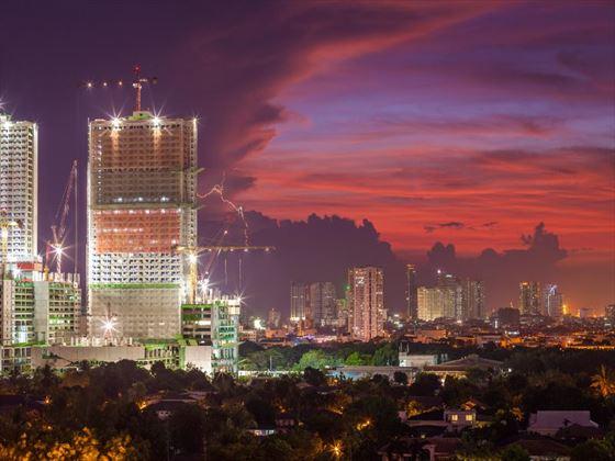 Manila at twilight