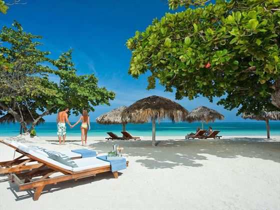 Enjoy lazy days just relaxing on the white sand beach.