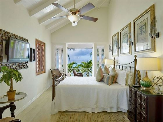 The first floor double bedrooms have panoramic ocean views