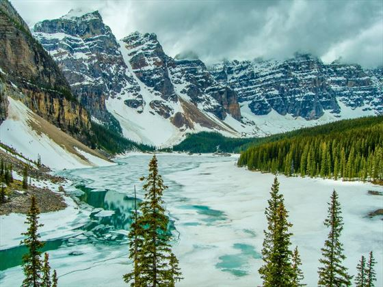 Lake Moraine frozen