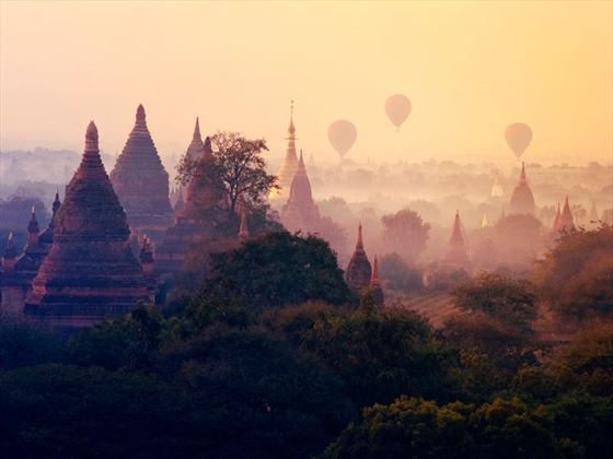 Burma at sunset