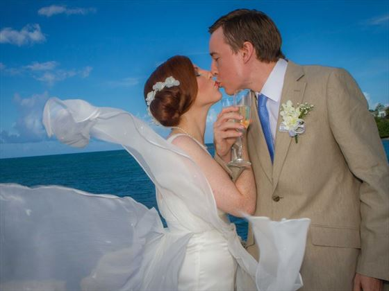 Stolen moments for the Bride & Groom at Blue Waters