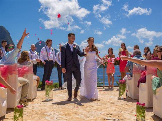 Wedding celebrations at Jade Mountain