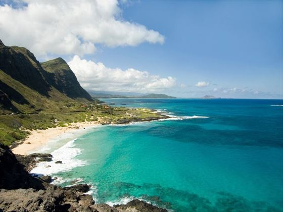 Panoramic view of Oahu