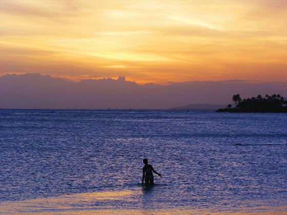 Oahu sunset, Hawaii