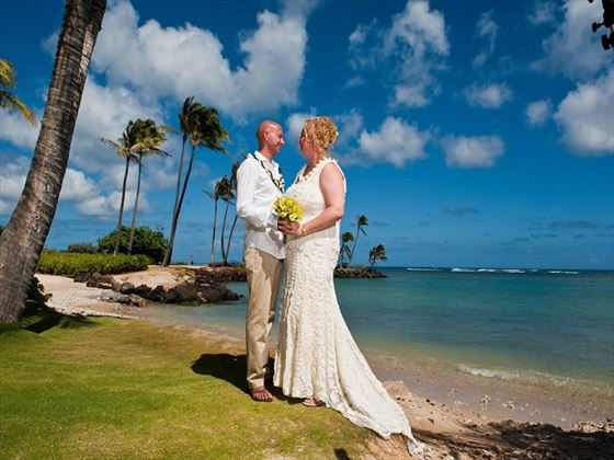 Stunning setting for a Hawaiian wedding
