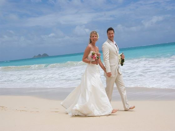 Beachside Bride & Groom