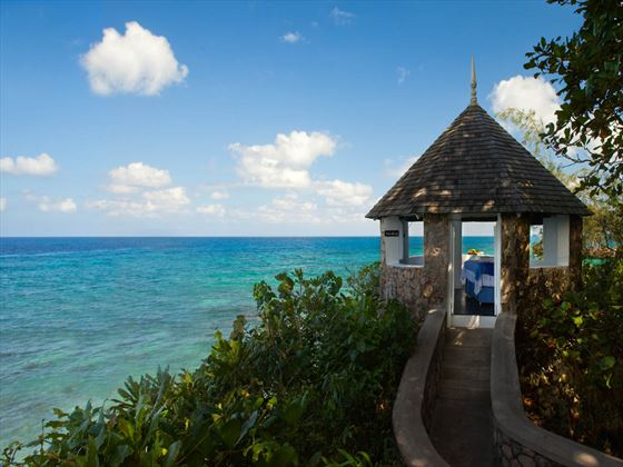 Ocean-view spa hut at Couples Sans Souci