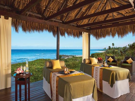 Oceanview spa treatments at Dreams Tulum