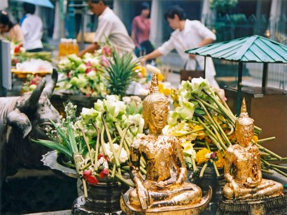 Offerings at Bangkok's Grand Palace