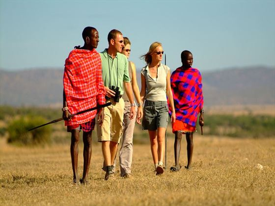 Walk with Masai warriors through the Ol Kinyei Conservancy
