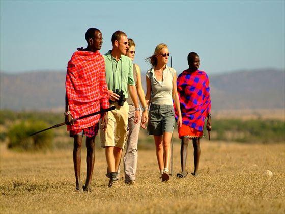 Walk with Masai warriors through the Ol Kinyei Conservancy