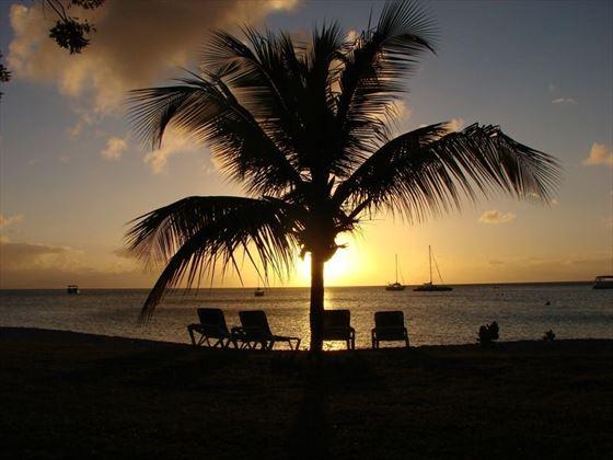 Stunning sunset over Nevis