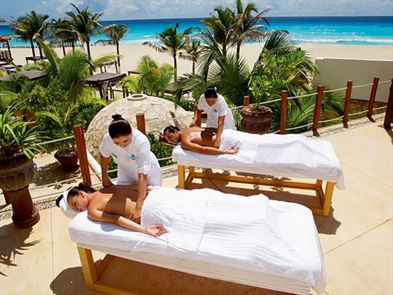 Outdoor massage treatment at The Royal Cancun