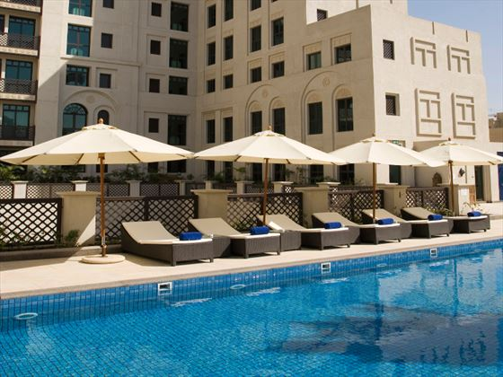Outdoor pool at Al Manzil