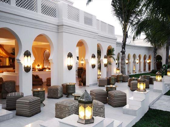 Outdoor seating at Baraza Resort & Spa