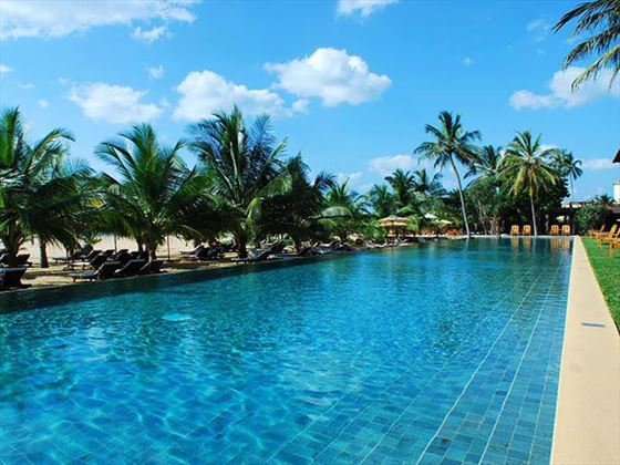 Outdoor swimming pool at Jetwing Beach