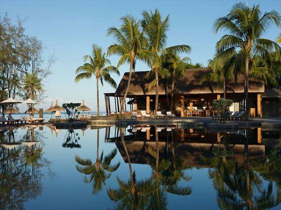 Main pool overlooking the Edgewater Beach restaurant