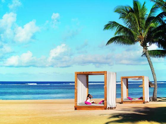 Outrigger Mauritius beach cabanas