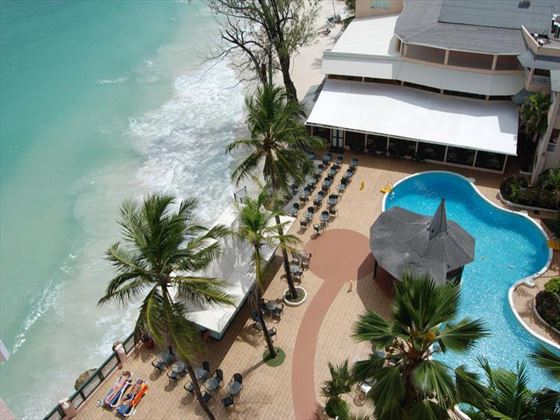 Overhead views of Barbados Beach Club