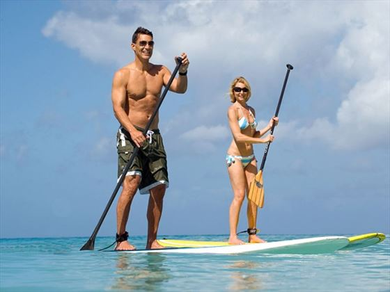 Paddle boarding at Waves Hotel & Spa