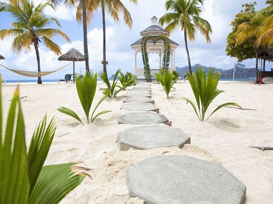 Palm Island wedding gazebo