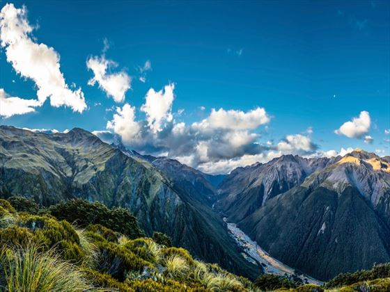 Panorama of Arthur's Pass National Park