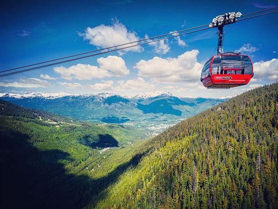 PEAK 2 PEAK Gondola crossing the valley