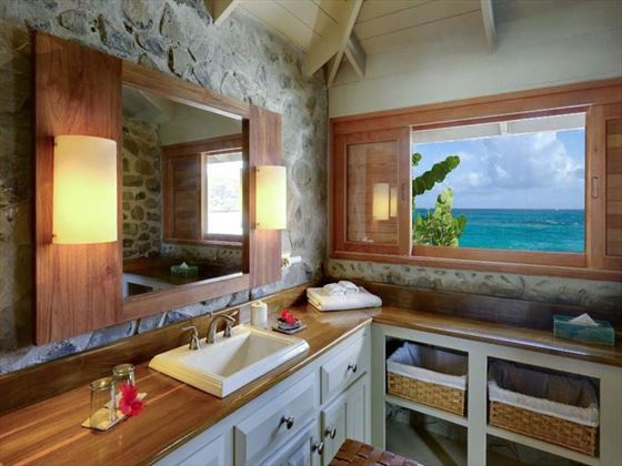 Petit St Vincent One-bedroom Cottage bathroom