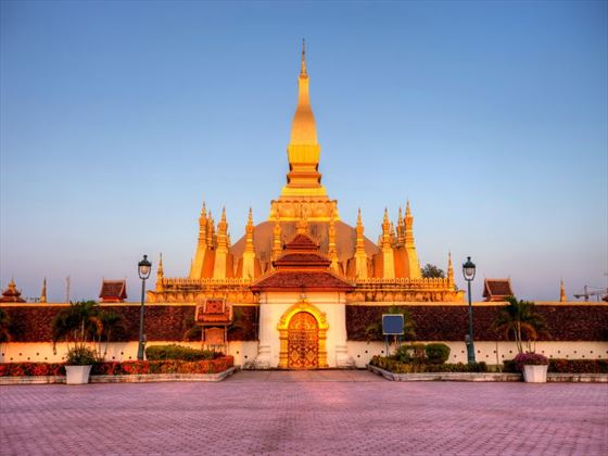 Pha That Luang, the golden stupa in Vientiane