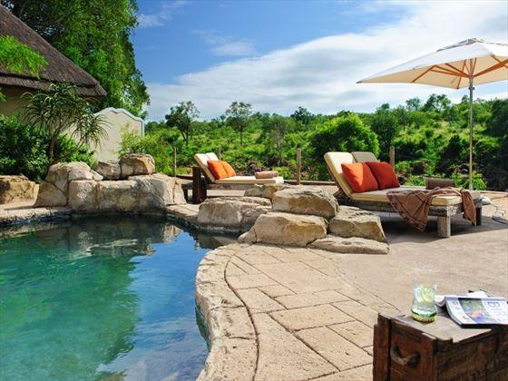 Pool area at Jock Safari Lodge