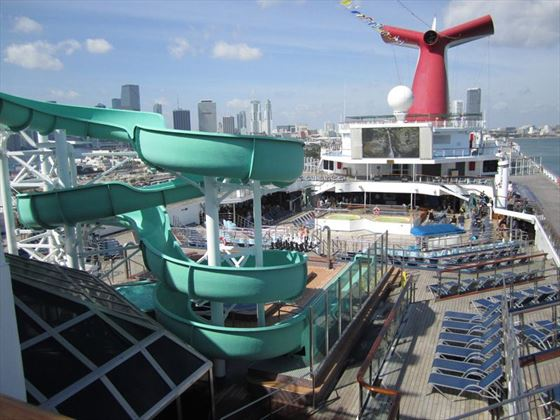 Pool Deck on Carnival Glory