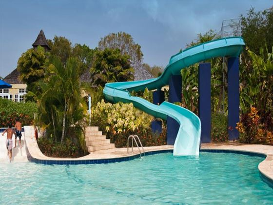 Pool slide at Smugglers Cove Resort & Spa