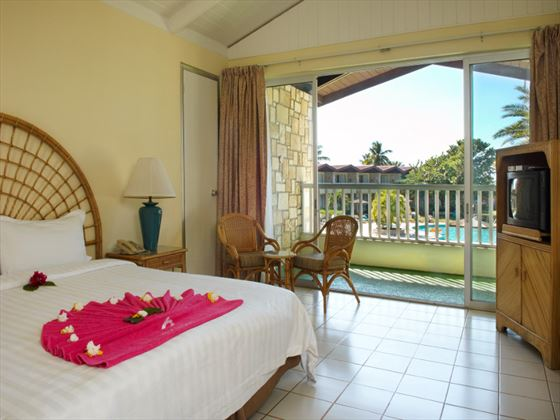 Poolside room at Halcyon Cove