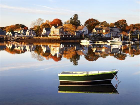 Portsmouth waterfront, New Hampshire in the fall