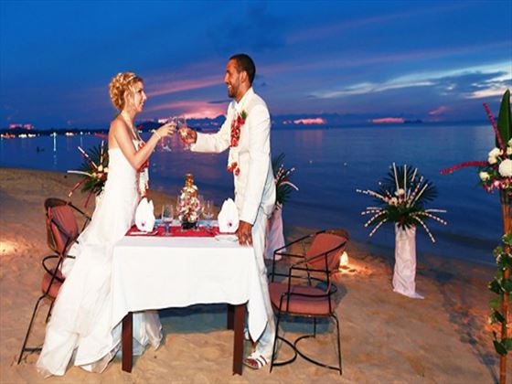 Private dining at Paradise Beach Resort