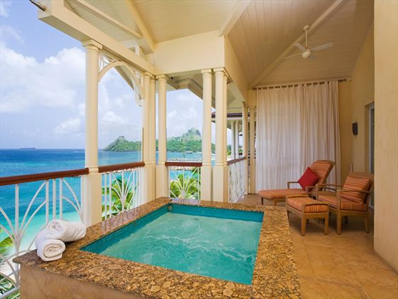 Private plunge pool at The Landings