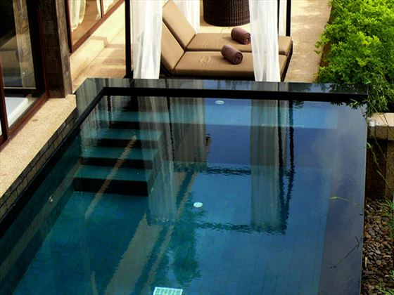 Private pool at the Cliff Villa at Paresa