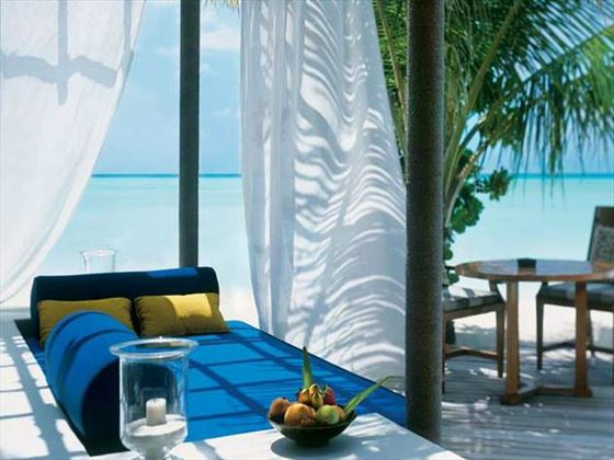 Private sit-out area at Taj Exotica Resort & Spa