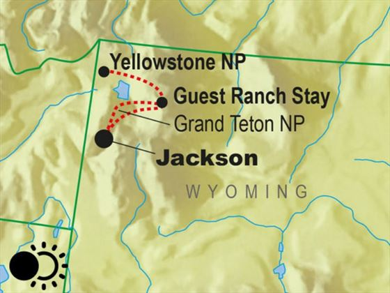 Solar Eclipse - Yellowstone and Ranch Map