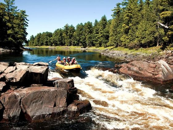 Rafting on the Foresters Falls rapids, Ontario