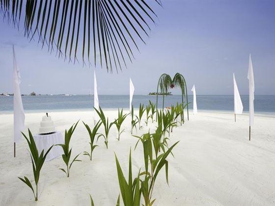 Beach blessing at Conrad Maldives Rangali Island